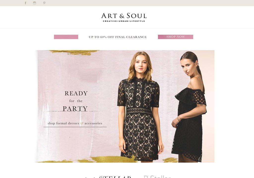 art & soul web design and development