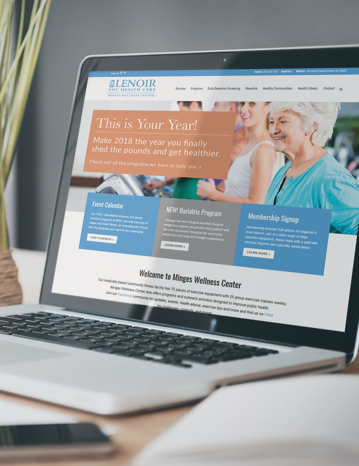 Lenoir Wellness Center Website Design