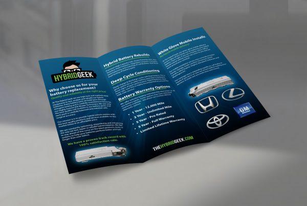 The Hybrid Geek TriFold Brochure Design