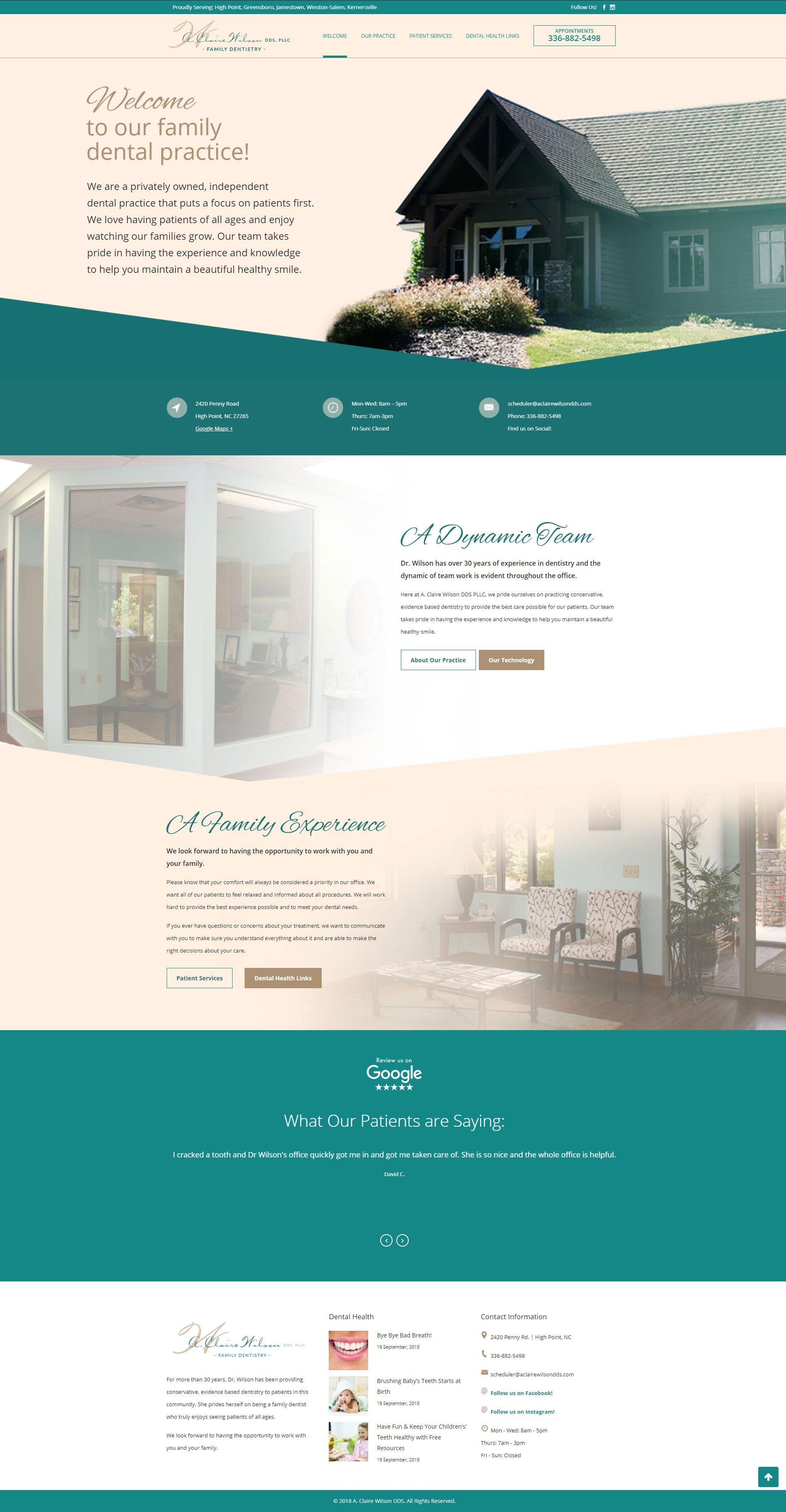Dental Website Design - Full Homepage